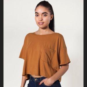 American apparel crop tee - rust brown